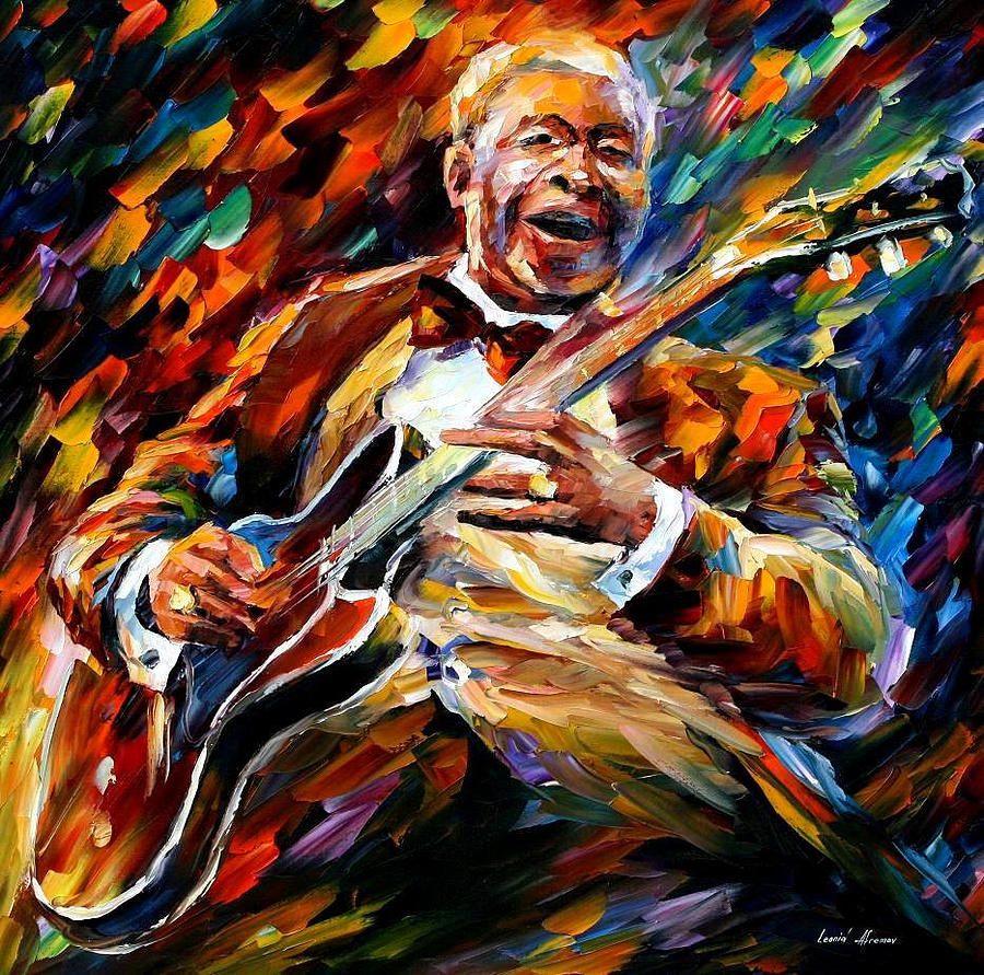 Oil Paintings Painting - Bb King - Palette Knife Oil Painting On Canvas By Leonid Afremov by Leonid Afremov