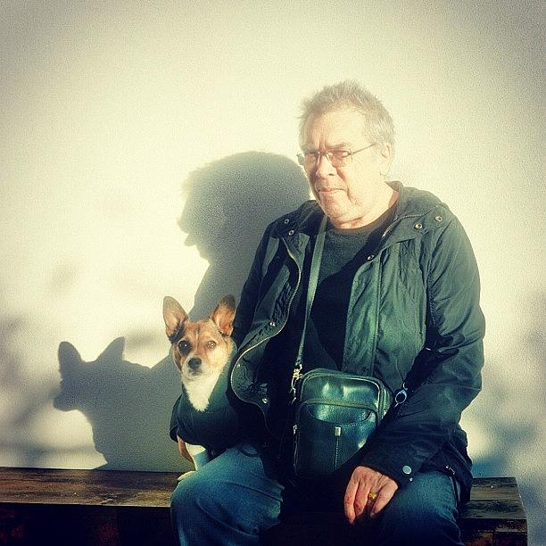 Dad Photograph - #bbhames #buda And His Poppy. #dad by Emily Hames