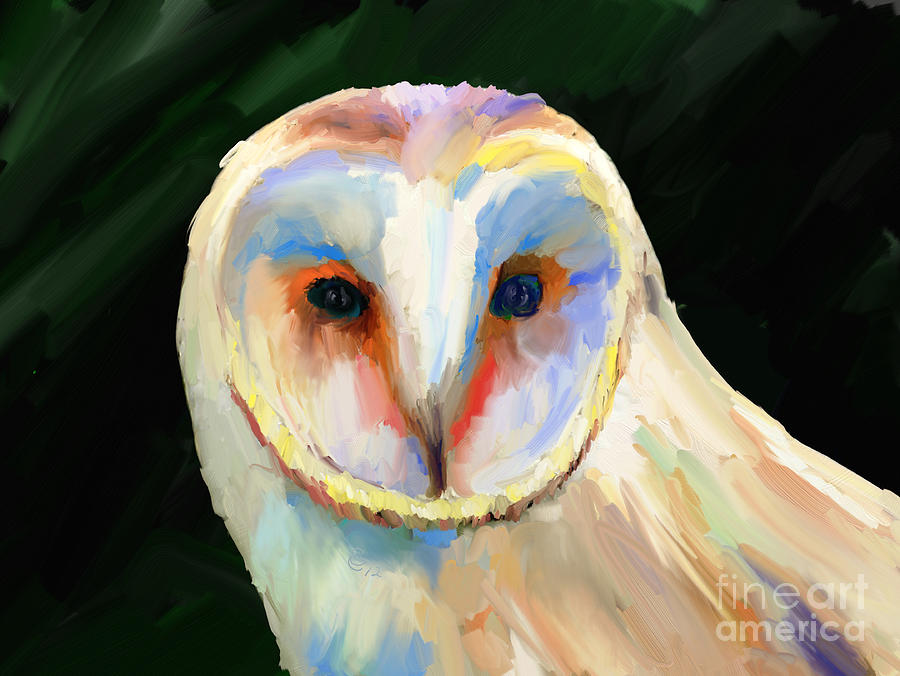 Barn Owl Painting - Be As Quiet As A Mouse by GCannon
