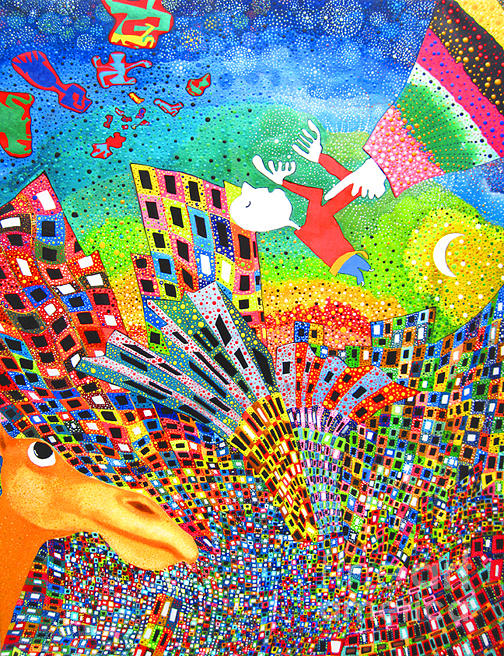 Pointillist Painting - Be Careful What You Wish For by Johny Deluna