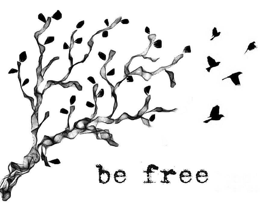 Graphic Design Photograph - Be Free by Jennifer Kimberly
