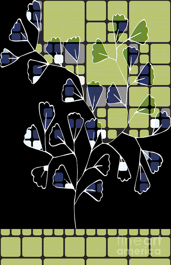 Leaves Digital Art - Be-leaf - Green 02ab03 by Variance Collections