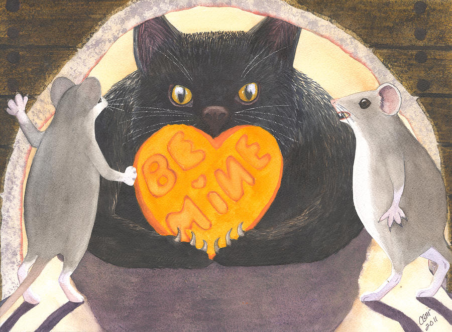 Cat Painting - Be Mine by Catherine G McElroy