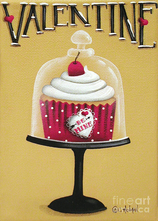 Print Painting - Be Mine Valentine by Catherine Holman