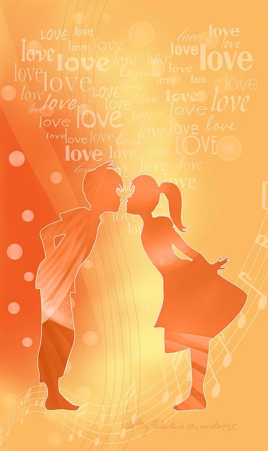 Valentine Digital Art - Be My Valentine by Gayle Odsather