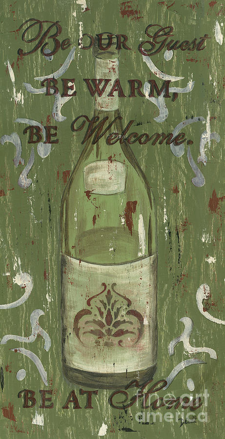 Wine Painting - Be Our Guest by Debbie DeWitt