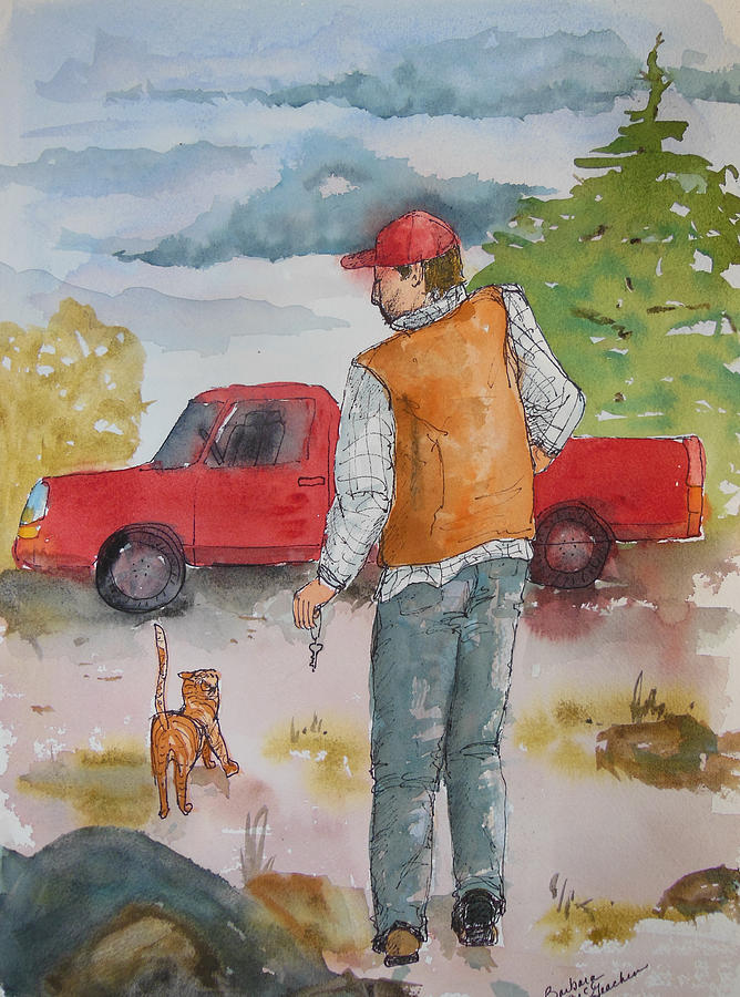Pick Up Truck Mixed Media - Be Right Back by Barbara McGeachen
