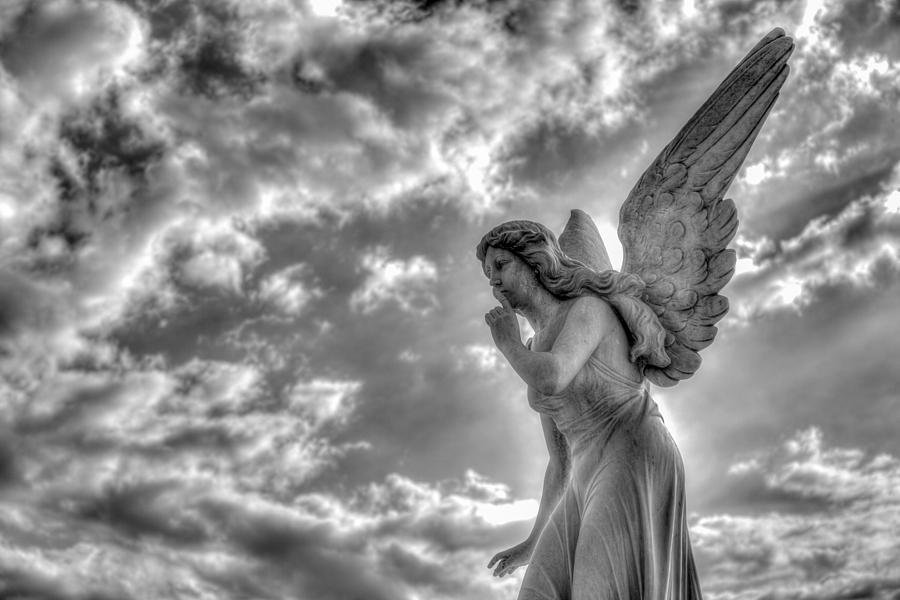 Angel Photograph - Be Silent by Andres Leon