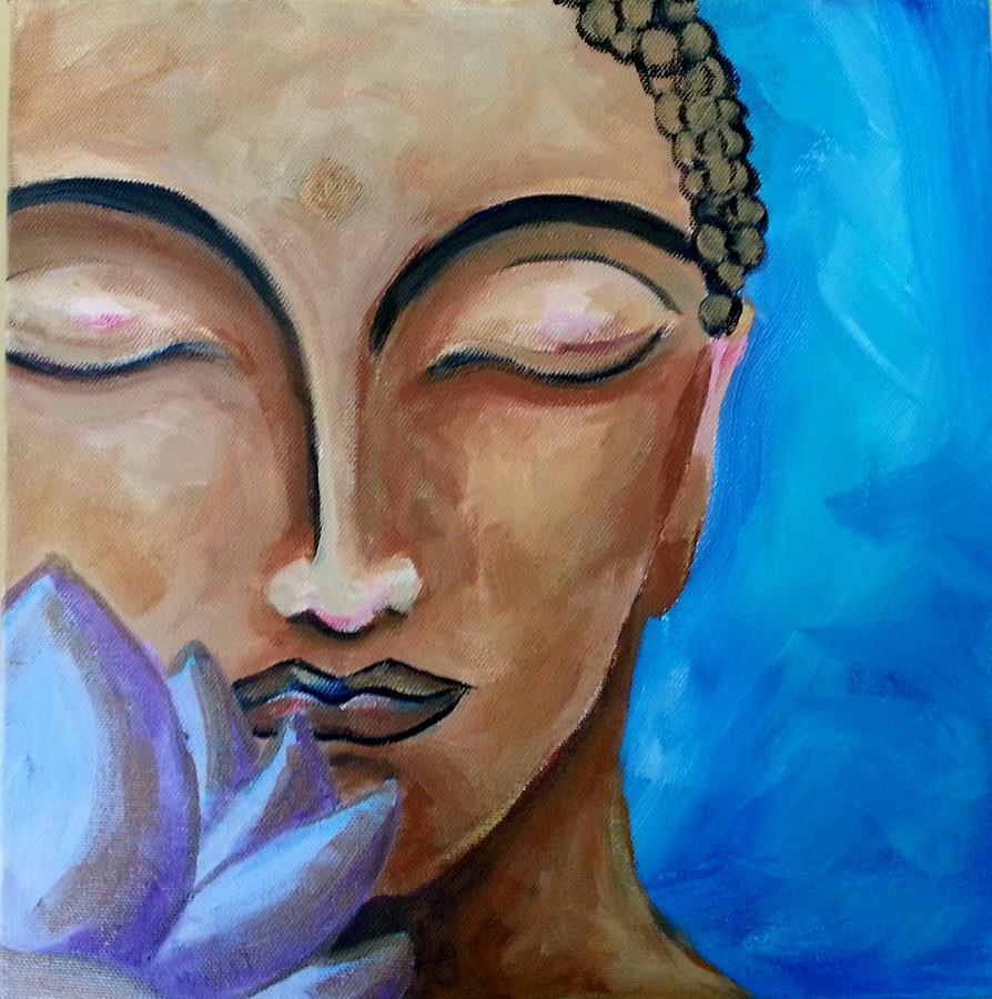 Buddha Painting - Be Still by Anne Krein