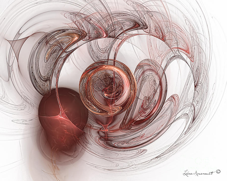 Abstract Digital Art - Be Still My Heart by Leona Arsenault