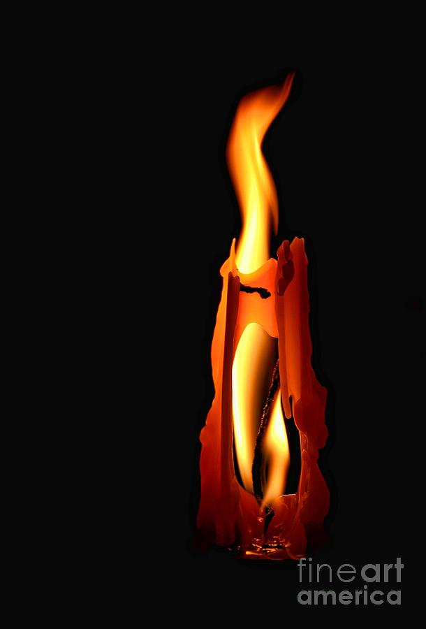 Burning Photograph - Be The Flame by Peggy Hughes