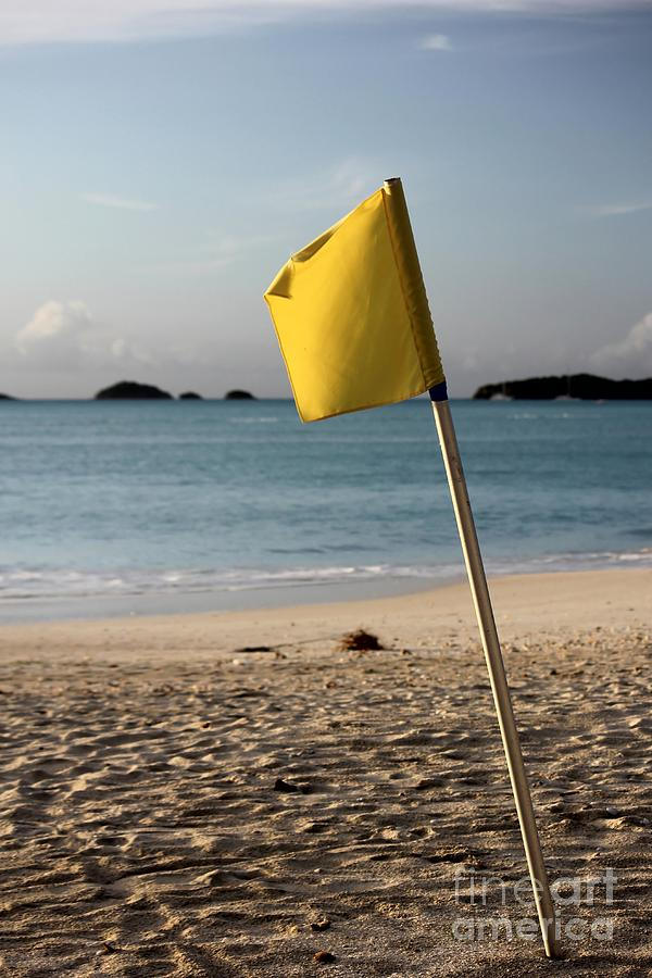 Flag Photograph - Be Warned by Sophie Vigneault