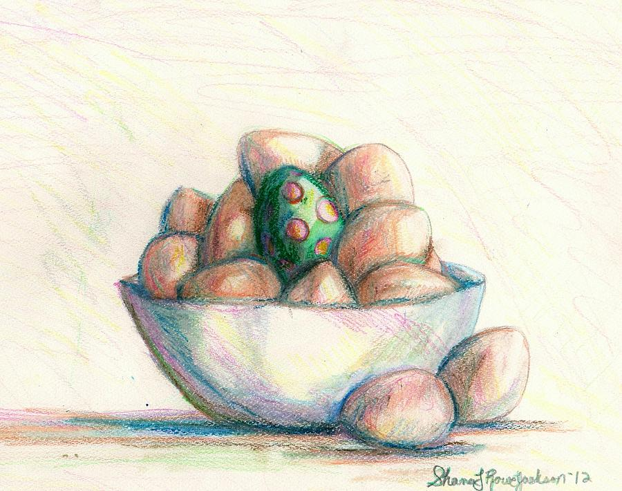 Eggs Drawing - Be Yourself by Shana Rowe Jackson