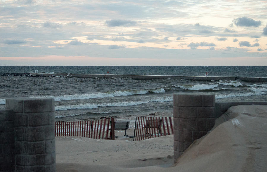 Beach And Benches Photograph