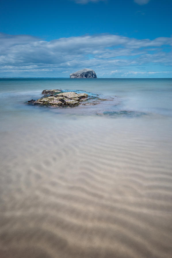 Bass Rock Photograph - Beach At Bass Rock by Keith Thorburn LRPS