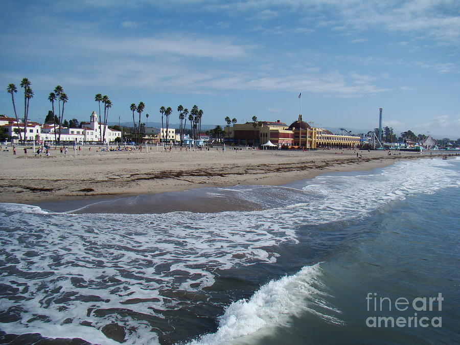 Landscape Photograph - Beach At Santa Cruz by Eva Kato