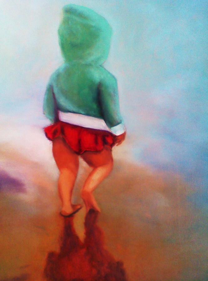 Beach Painting - Beach Baby Bella by Barbie Baughman