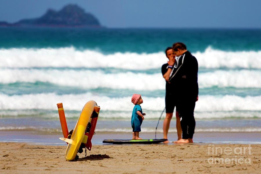 Cornwall Photograph - Beach Baby by Terri Waters