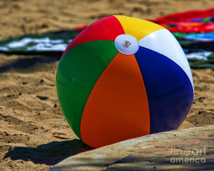 Beach Ball On Beach