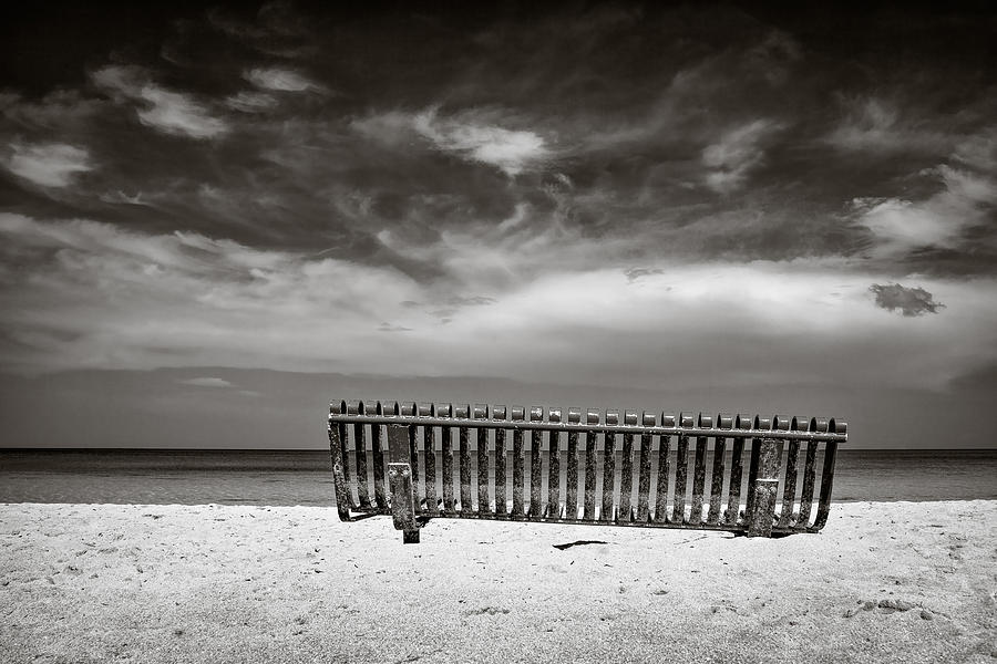 Jamaica Photograph - Beach Bench by Dave Bowman