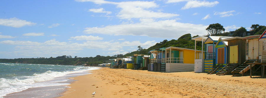 Beach Photograph - Beach Boxes Mornington by Rachael Curry