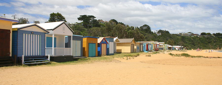 Beachbox Photograph - Beach Boxes Mount Martha by Rachael Curry