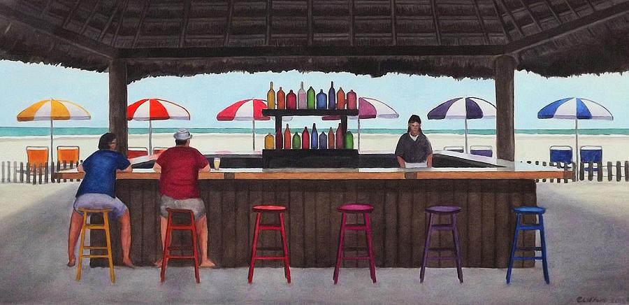 Beach Painting - Beach Breakfast Bar by Cory Clifford