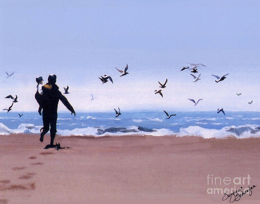 Ocean Painting - Beach Buddies by Suzanne Schaefer