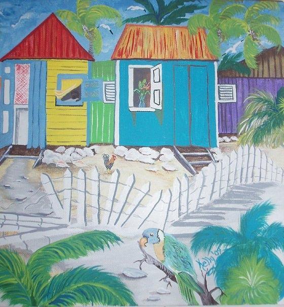 Cabanas Painting - Beach Cabanas by Shirley Kelly