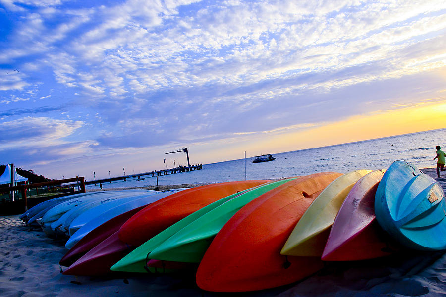 Beach Photograph - Beach Canoe by Amanda Mitchell