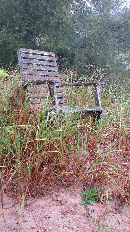 Beach Photograph - Beach Chair by Denise   Hoff
