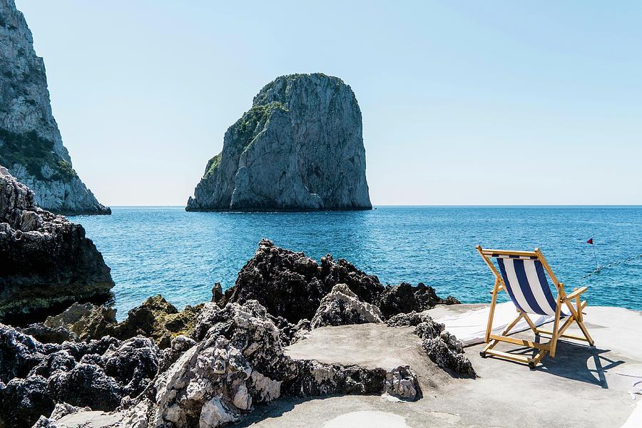 Beach Club La Fontanella, Capri Photograph by Arnt Haug / Look-foto