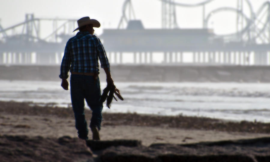 Beach Cowboy by John Collins