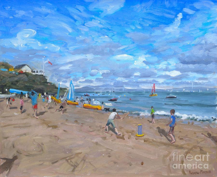 Beach Painting - Beach cricket by Andrew Macara