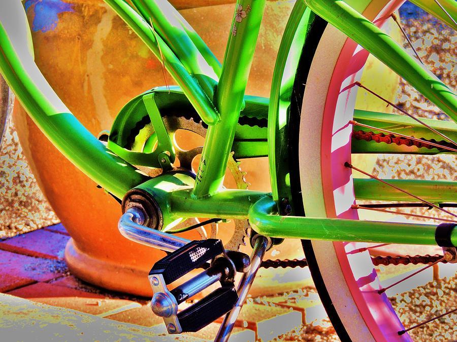 Bicycle Photograph - Beach Cruiser by Helen Carson