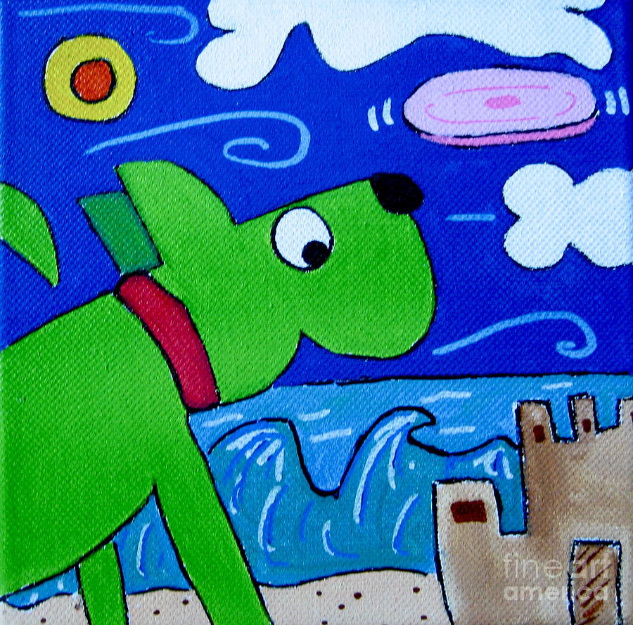 Dog Painting - Beach Dog by Susan Sorrell