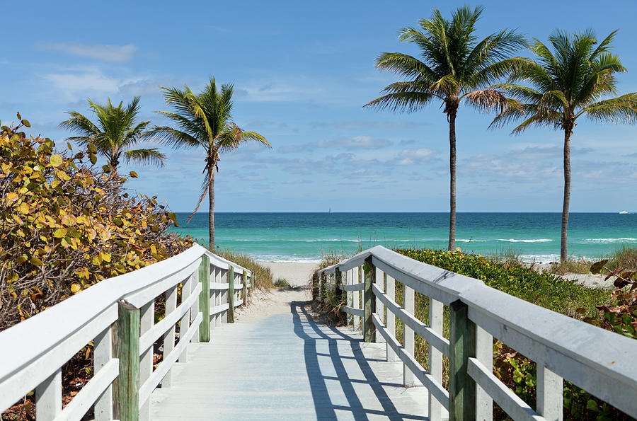Beach Entrance, Florida Photograph by Kubrak78