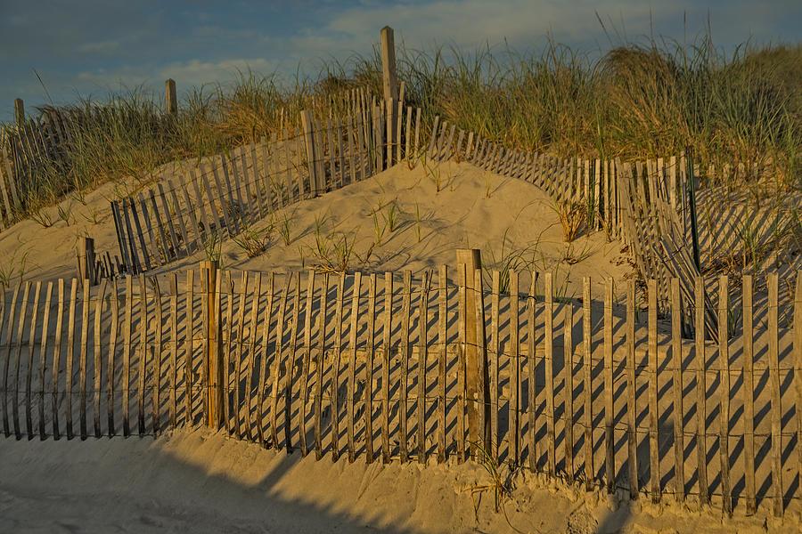 Cape Cod Photograph - Beach Fence by Susan Candelario