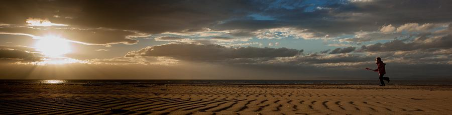 Beach Girl at Sunset by Max Blinkhorn