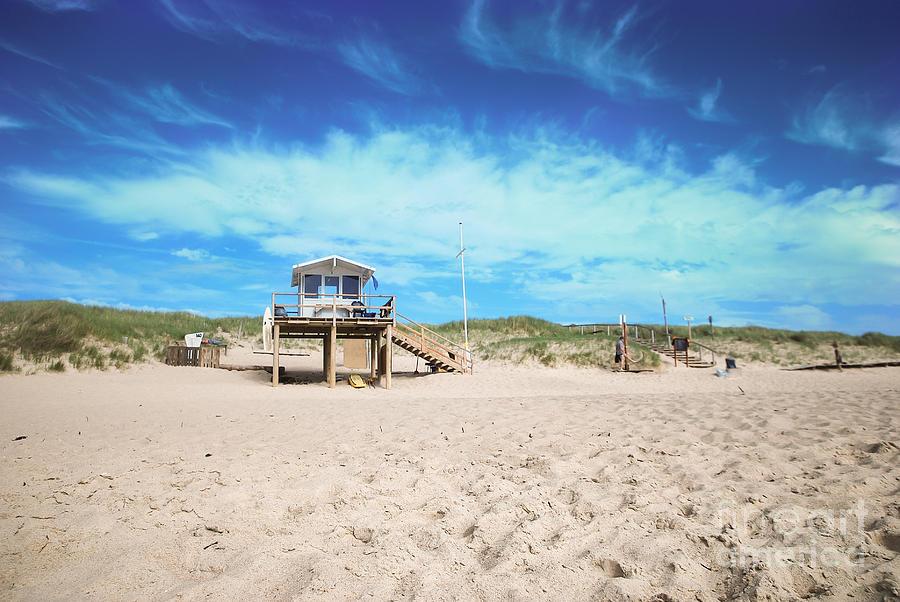 Bay Watch Photograph - Beach Guard - Sylt by Hannes Cmarits