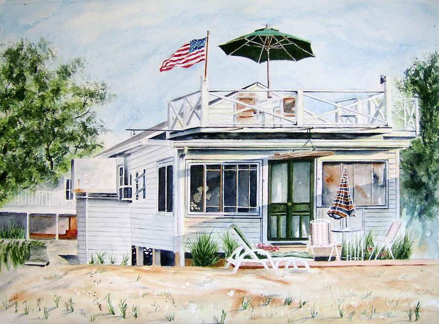 Beach Painting - Beach House by Brian Degnon