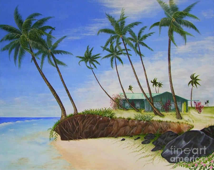 Beach House Painting by Mary Deal