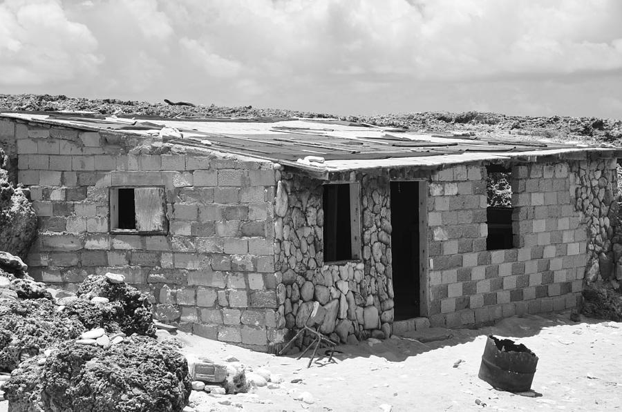 Black And White Photograph - Beach House  by Sabrina  Hall