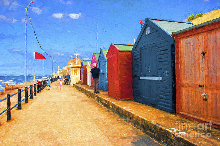 Beach Huts Photograph - Beach Huts At Cromer by Sheila Smart Fine Art Photography