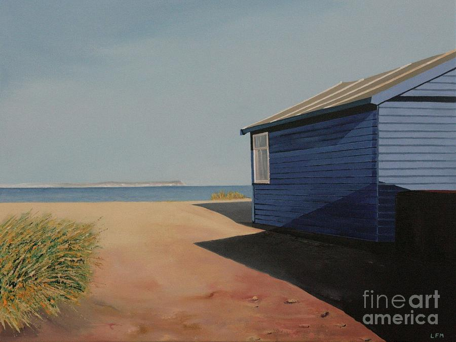 Beach Hut Painting - Beach Huts In The Sun by Linda Monk
