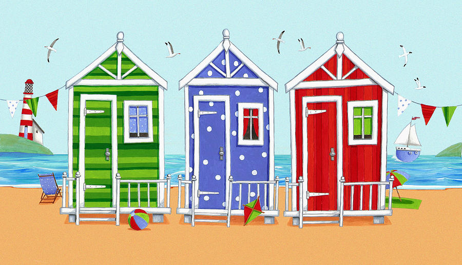 Architecture Photograph - Beach Huts by Peter Adderley