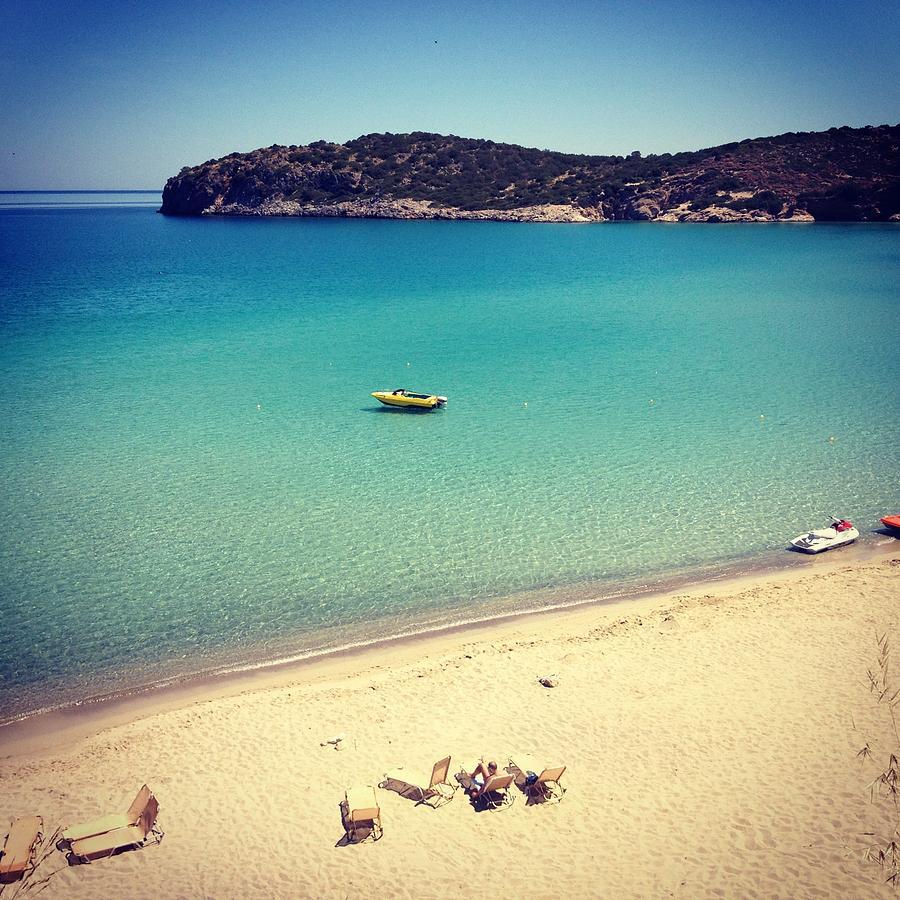 Beach In Crete Photograph by Seiphotos