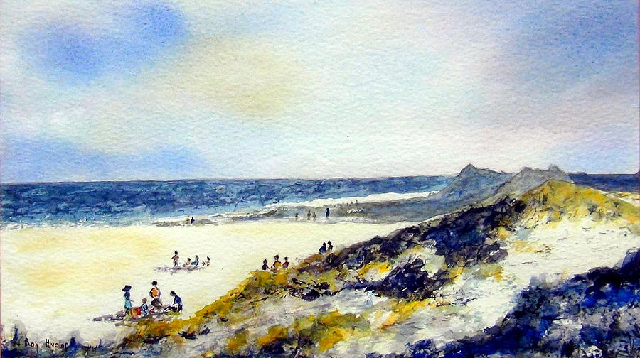 Beach Painting - Beach In Norfolk by Roy Hyslop