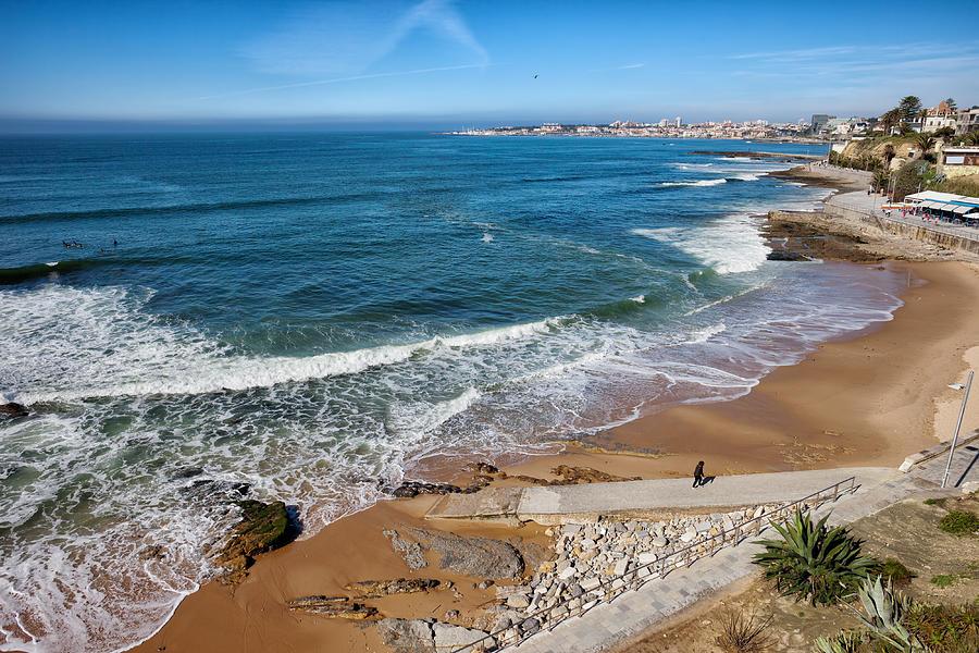 Estoril Photograph - Beach In Resort Town Of Estoril by Artur Bogacki