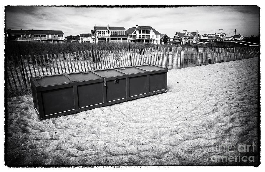 Sand Photograph - Beach Locker by John Rizzuto